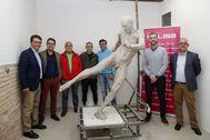 La escultura de Iniesta en la fotografía difundida este martes por el Ayuntamiento de Albacete