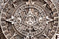 Calendario maya en las ruinas de Chechen Itza, en México.