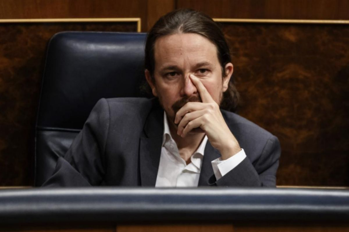 Pablo Iglesias, vicepresidente segundo del Gobierno, durante el Pleno.