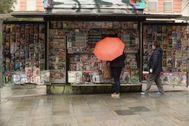Quiosco de la calle Fuencarral donde, seguramente, vendieran la revista 6 Toros 6