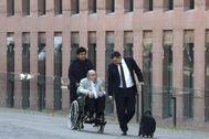 Millet junto a su abogado cuando fue juzgado en la Ciutat de la Justícia