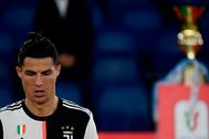 Cristiano Ronaldo, desolado tras perder la final.