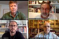 Un fotograma de la charla online celebrada por la Escuela de Periodismo y Comunicación de Unidad Editorial