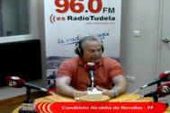 Eloy Valerio, concejal del PP en Novallas, en una entrevista de radio.