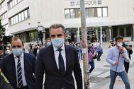 José Manuel Franco, saliendo la semana pasada de los juzgados.