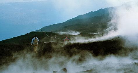 Perspectiva de la espectacular montaña de fuego.