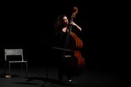 Una artista, este miércoles, en el espectáculo celebrado en los Teatros del Canal, el primero tras el Covid-19.
