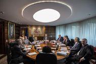 El pleno del Tribunal Constitucional, en una imagen de archivo.