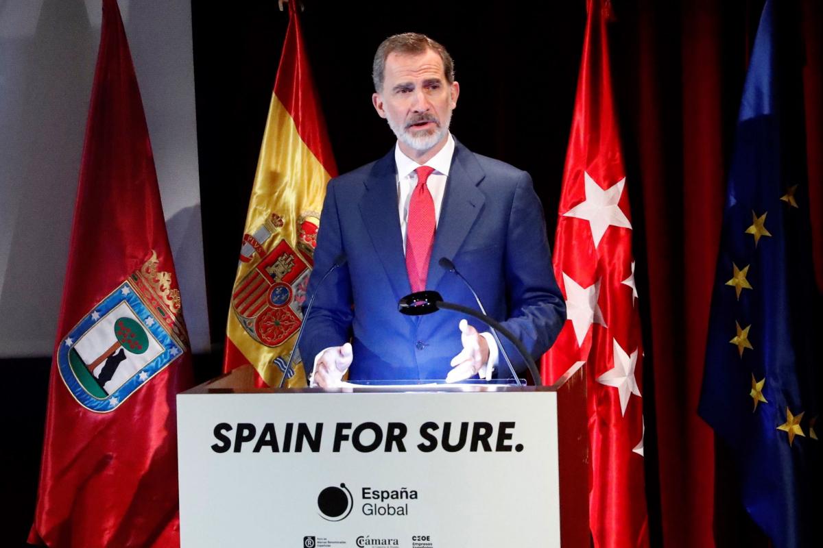 El Rey en la presentación de la campaña 'Spain for sure', este jueves, en Madrid.