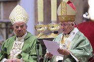 El cardenal Antonio Cañizares durante una misa en Valencia.