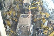 Robots en la planta de montaje de Kyushu.