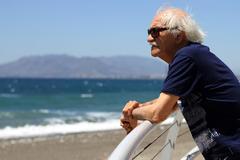 Erik el Belga, frente a las playas malagueñas de El Palo, en 2012.