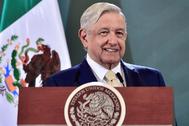 López Obrador, durante una rueda de prensa.