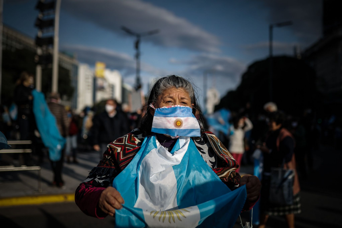 Otra de las manifestantes.
