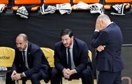 Laso se lamenta durante el partido ante el Burgos.