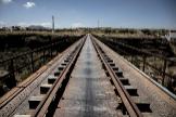 Antigua vía de tren en Granada.