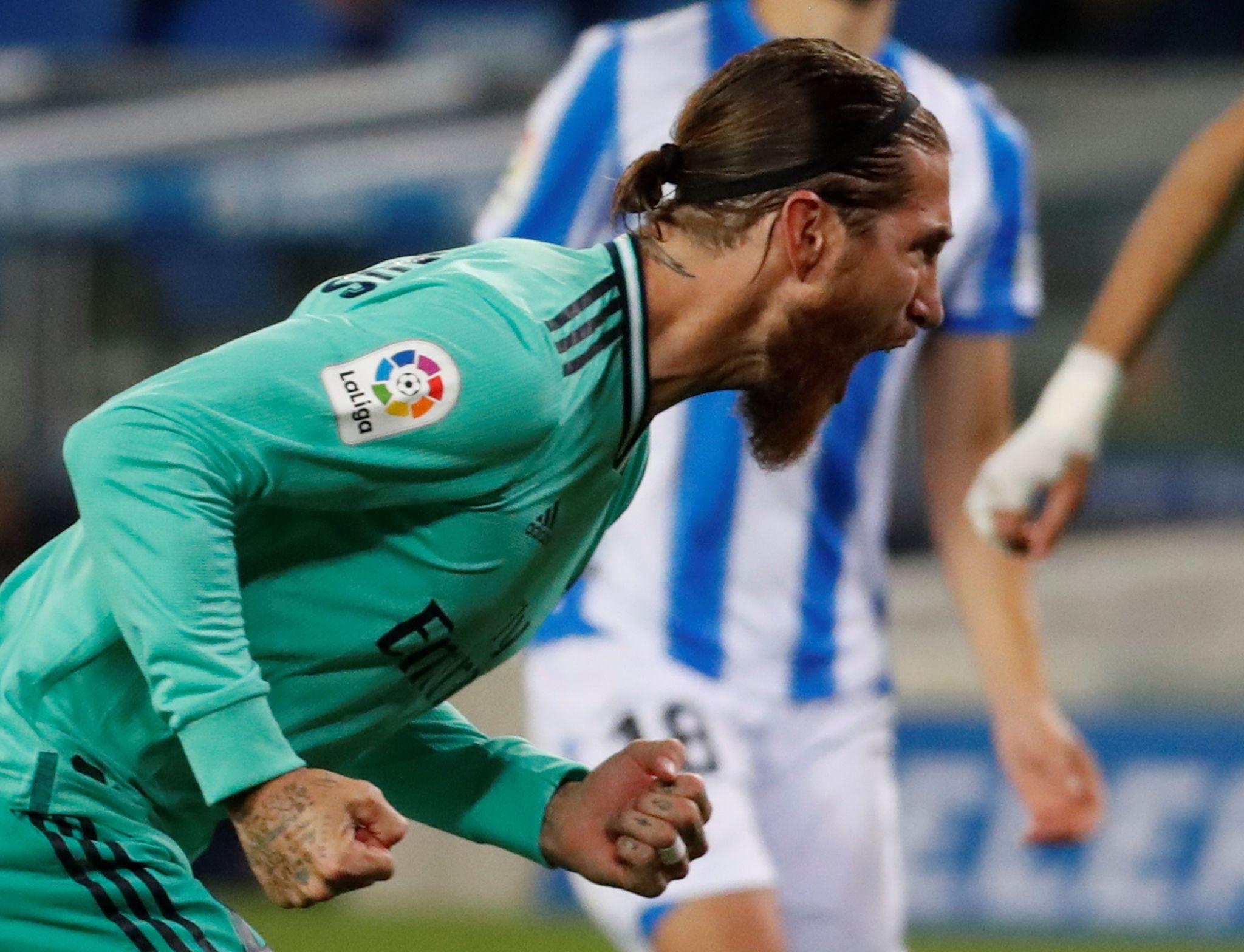 Récord goleador para Sergio Ramos e inquietud por su lesión en la rodilla