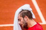 Borna Coric, durante un torneo de la ATP.