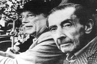 José Bergamín y Rafael Alberti, en Las Ventas, en 1981.
