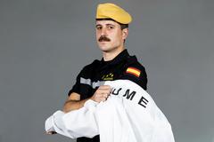 El capitán de la Compañía de Ingenieros 13 del Primer Batallón de la UME. Entre otros destinos. FOTOS: