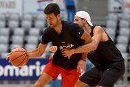 Djokovic y Dimitrov, en una pachanga, la pasada semana.