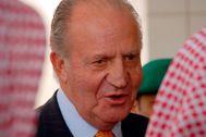 Don Juan Carlos, recibido en la sede del Consejo Consultivo (Majlis Ash Shura), la asamblea legislativa de la monarquía islámica saudí.