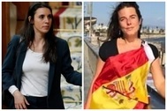 La ministra Irene Montero y la concejal de Vox  Cristina Gómez Carvajal