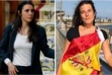 La ministra Irene Montero y la concejal de Vox  Cristina Gómez Carvajal.