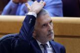 El ministro del Interior, Fernando Grande-Marlaska, en el Senado.