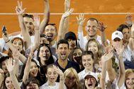 Djokovic, el pasado 14 de junio, tras un partido del Adria Tour.
