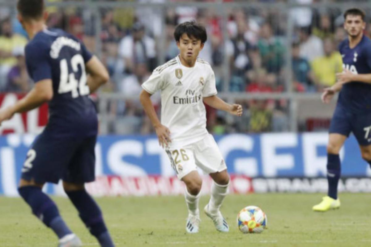 Kubo, el pasado verano en un amistoso con el Real Madrid.