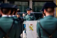 El coronel Diego Pérez de los Cobos, en su nombramiento como jefe de la Comandancia de la Guardia Civil de Madrid, en 2018.