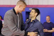 Jokic y Djokovic, hace unos días en Belgrado.
