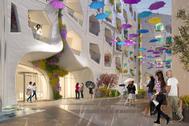 La calle de la lluvia perpetua de Dubai.