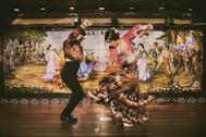 Actuación en el tablao flamenco Villa Rosa, en el barrio de Las Letras