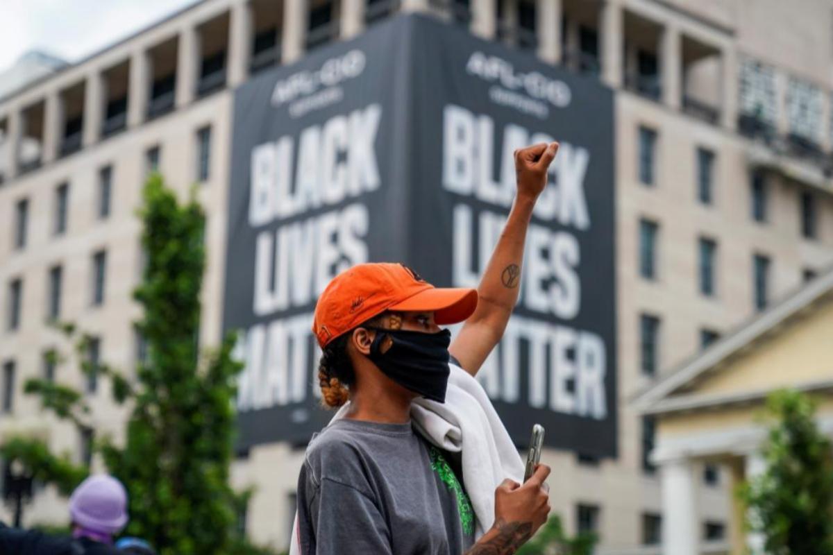 Protesta del movimiento Black Lives Matter en el centro de Washington.