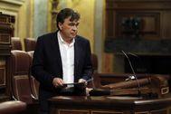 Tomás Guitarte, diputado de Teruel Existe, antes de defender el miércoles en el Congreso la moción presentada para reactivar la España vaciada.