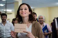 Isabel Díaz Ayuso, en las elecciones de 2019.