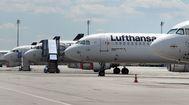 Aviones de Lufthansa en la pista del aeropuerto Franz-Josef-Strauss, en Múnich.
