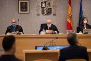 El tribunal que juzga el desvío de dinero público con motivo de la visita del Papa.