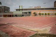 Patio de un centro escolar público de Valencia.