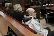 Millet, Montull y su hija, y Osàcar durante el juicio.