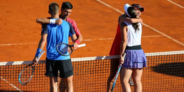 Djokovic y Coric, con Konjuh y Danilovic en Zadar.