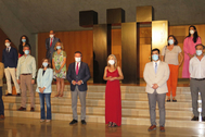 Presentación de la programación del Maestranza, con el alcalde de Sevilla y la consejera de Cultura.