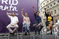 Pablo Iglesias, Irene Montero, Inigo Errejon y Dina Bousselham