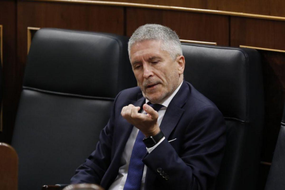 Fernando Grande-Marlaska, el miércoles, en la sesión de control al Gobierno.