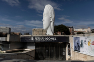 El Teatro Fernán Gómez, al inicio del estado de alarma.