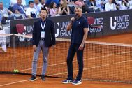 Ivanisevic, en el momento en que anunció la cancelación en Zadar.