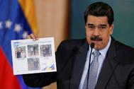 Nicolás Maduro, en una comparecencia, en 2019, en Caracas.