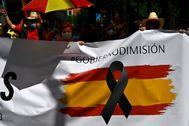 Protesta en el paseo de la Castellana.